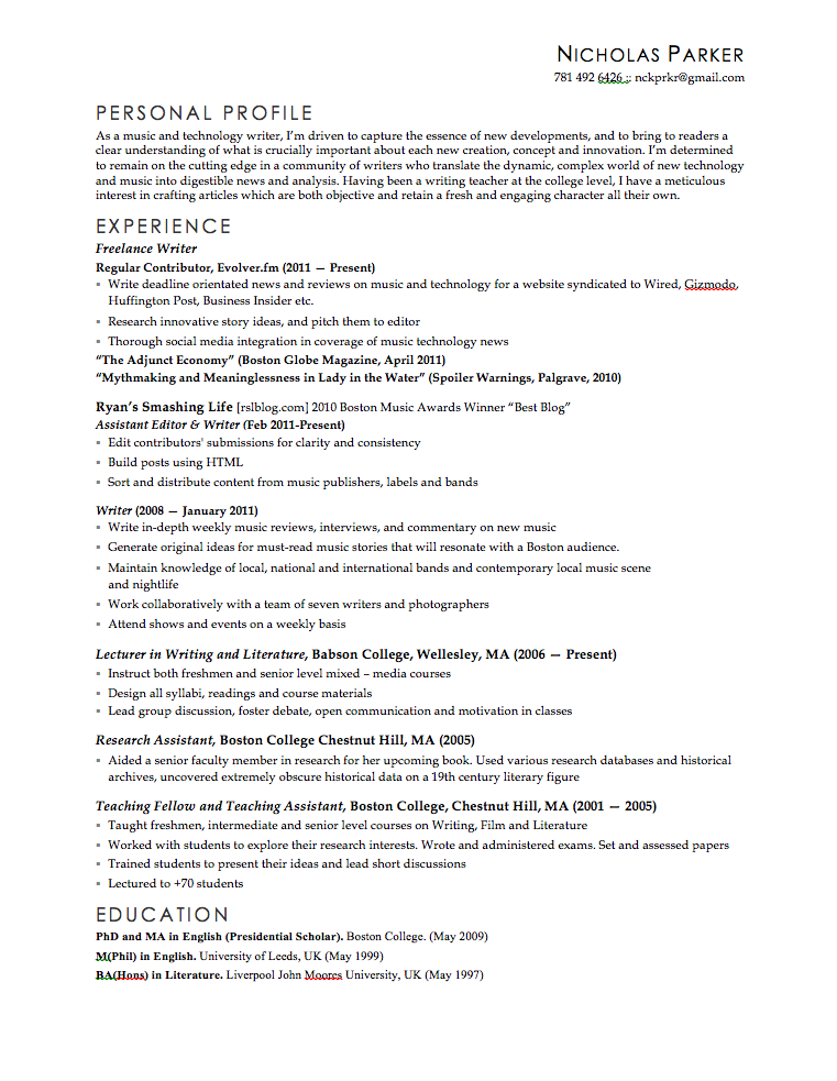 College Resume Templates College Admissions Resume Templates. My Cv Nckprkr