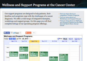 The Support Services Calendar