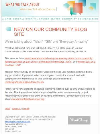 WWTA email blast