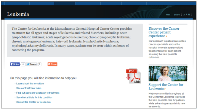 A new microsite for Leukemia
